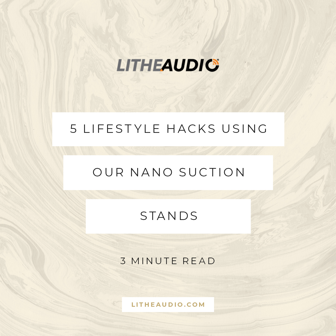 5 lifestyle hacks using our nano suction stands