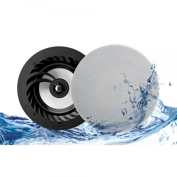 Lithe Audio 6.5'' Bluetooth 5 IP44 Rated Bathroom Ceiling Speaker (Pair)